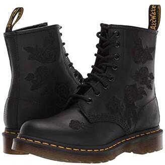 Dr. Martens 1460 Vonda Applique. (Black Softy T) Women's Shoes