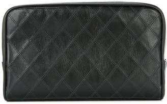 Chanel Pre Owned cosmos quilted CC cosmetic bag