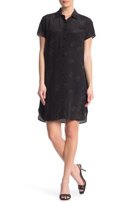 Amour Vert Sunna Bunny Print Silk Dress