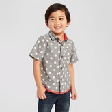 Genuine Kids from OshKosh Toddler Boys' Dot Button Down Shirt - Charcoal