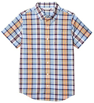 Janie and Jack Madras Button-Up Shirt (Toddler/Little Kids/Big Kids) (Multi) Boy's Clothing
