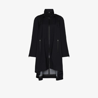 Low Classic Hooded Zip-Up Raincoat