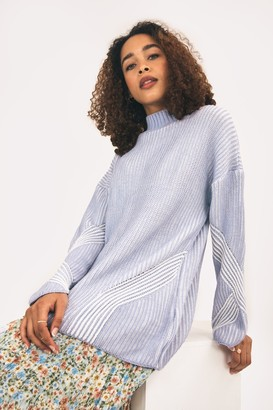 Cara & The Sky Rosa High Neck Jumper