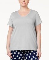 Hue Plus Size V-Neck Pajama T-Shirt