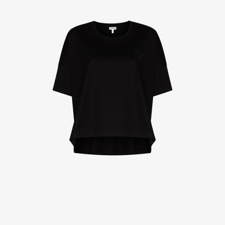 Loewe embroidered anagram logo cotton T-shirt