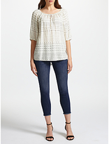 DL1961 Florence Mid Rise Skinny Cropped Jeans, Stranded
