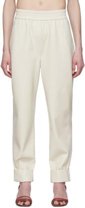 Nanushka Off-White Vegan Leather Selah Trousers