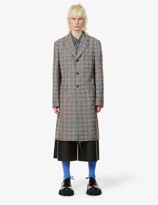 Comme des Garçons Homme Plus Checked single-breasted wool overcoat