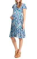 Everly Grey Women's 'Kathy' Maternity/nursing Wrap Dress