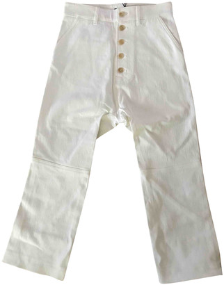 Joseph White Cotton Jeans