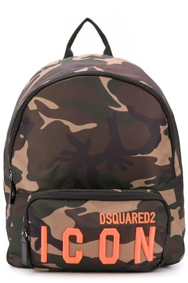 DSQUARED2 Logo Camouflage Backpack
