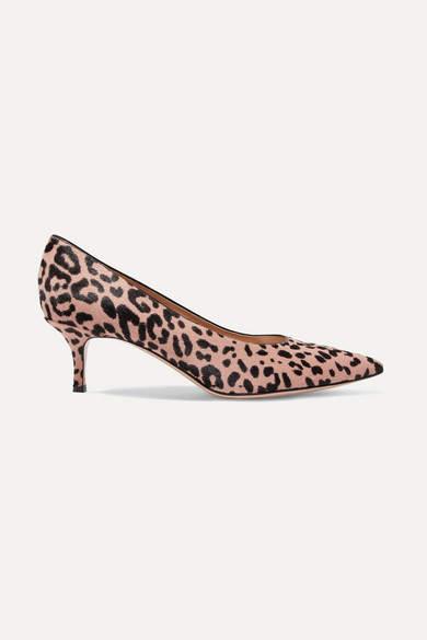 Gianvito Rossi 55 Leopard-print Calf Hair Pumps - Leopard print