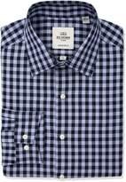 Ben Sherman Men's Oxford Check Florentine Spread Fit Dress Shirt