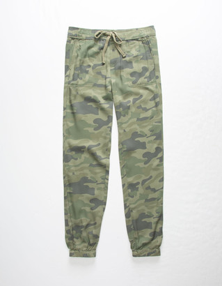 Celebrity Pink Camo Twill Girls Jogger Pants