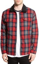 Obey Men's Trailer Quilt Lined Flannel Jacket