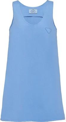 Prada A-line denim tank dress