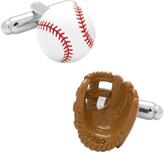 Cufflinks Inc. Men's 3D Baseball and Glove Cufflinks