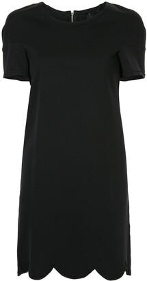 Comme Des Garçons Pre-Owned Scalloped Short Dress