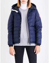 Canada Goose Ladies Black Exposed Zip Camp Hooded Quilted Jacket