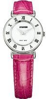 Jowissa Women's J2.010.S Roma Colori 24 mm Pink Leather Roman Numeral Watch