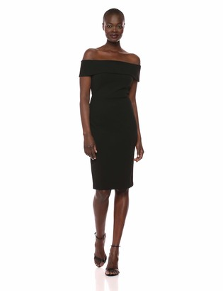 Calvin Klein Women's Seamed Off The Shoulder Party Dress