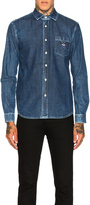 Kenzo Embroidered Jean Shirt