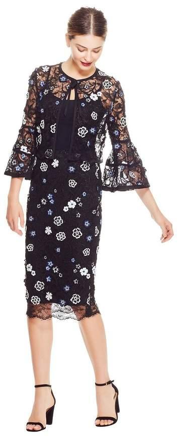 a6d09f6c9a Navy Lace Skirt - ShopStyle