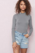 Garage Soft Mock Neck Long Sleeve Top
