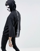 Asos Halloween Oversized Hoodie With Back Spine Print