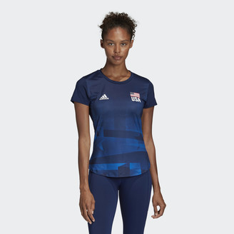 adidas USA Volleyball Primeblue Replica Tee