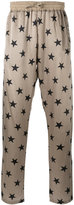 Faith Connexion star print joggers - men - Silk - M