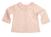 Marie Chantal Daisy Print Long Sleeve Ruffle Collar Baby Blouse