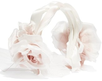Stephen Jones #444 True Love Satin-flower Grosgrain Headband - White Multi