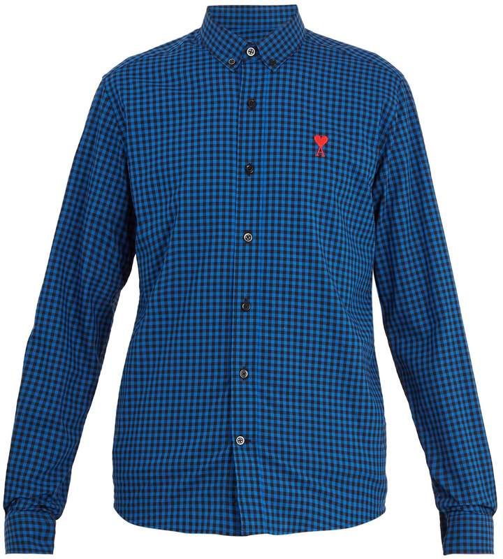 Ami Ace cotton gingham shirt