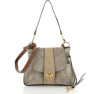 Chloé Lexa Crossbody Bag Suede Small