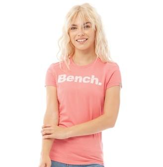 Bench Womens Sheehan Printed T-Shirt Coral
