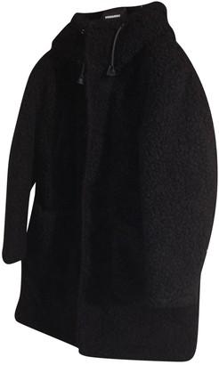 DSQUARED2 Black Faux fur Coats