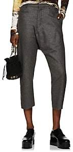 R 13 Women's Wool-Cashmere Tailored Drop-Rise Trousers - Gray