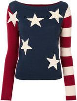 Twin-Set stars and stripes jumper - women - Polyamide/Viscose - XS