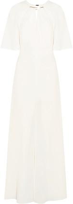 Halston Cape-Back Stretch-Crepe Gown