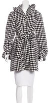 Alice + Olivia Houndstooth Knee-Length Coat