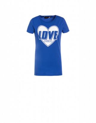 Love Moschino Heart Logo Stretch Jersey T-shirt