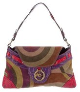 Etro Leather-Trimmed Suede Bag