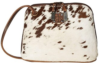 STS Ranchwear Cowhide Classic Crossbody (Cowhide/Tornado Brown) Handbags