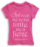 Urban Smalls Hot Pink 'Though She Be But Little' Fitted Tee - Toddler & Girls