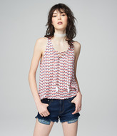 Prince & Fox Geo Print Lace Up Tank