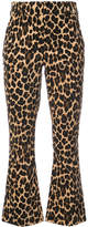 Frame cheetah print flared trousers