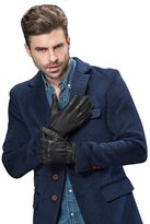 YISEVEN Men's Genuine Deerskin Leather extra soft micro fur lined Winter Gloves