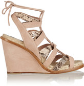 Paul Andrew Tempest suede and elaphe sandals