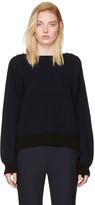 Helmut Lang Navy Side Strap Sweater